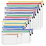Dokumententaschen ZITFRI 18 Stück Reißverschlussordner Reißverschlusstasche A4 B4 B5 A5 A6 B6 B8 Rechnung - Datei Taschen mit Reißverschluss, Mesh Bag für Datei, Papier, Büro Dokum