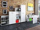 möbelando Büro-Kombi Komplettset Büroprogramm Arbeitszimmer Möbelset Büromöbel Trio 2345' Weiß